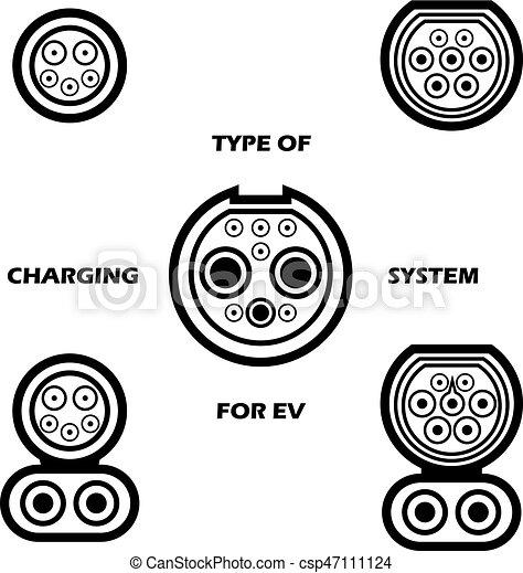 Verschieden, satz, elektrisch, system, vektor, auto.,... Vektor ...
