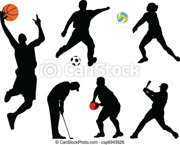 Sammeln verschiedener Sportarten - csp6943626