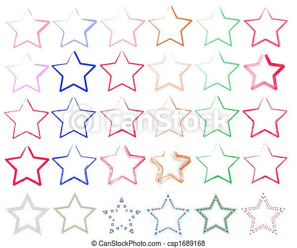 verschiedene Sterne - csp1689168