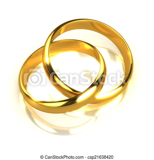 verschlungene paar ringe gold 3d render gold ringe angeschlossen zusammen zwei 3d. Black Bedroom Furniture Sets. Home Design Ideas