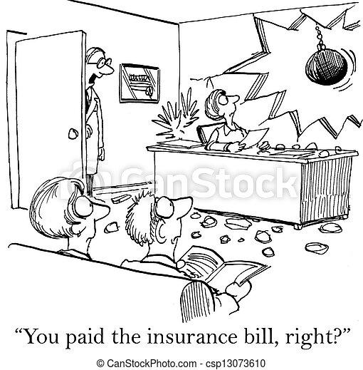 versicherung, banknote, schuldig, besorgt, doktor - csp13073610