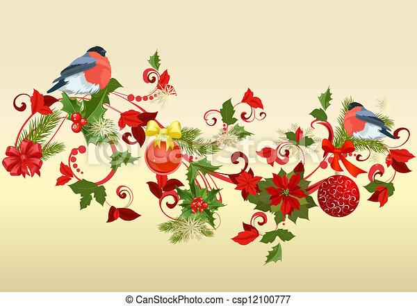 versiering, kerstmis - csp12100777