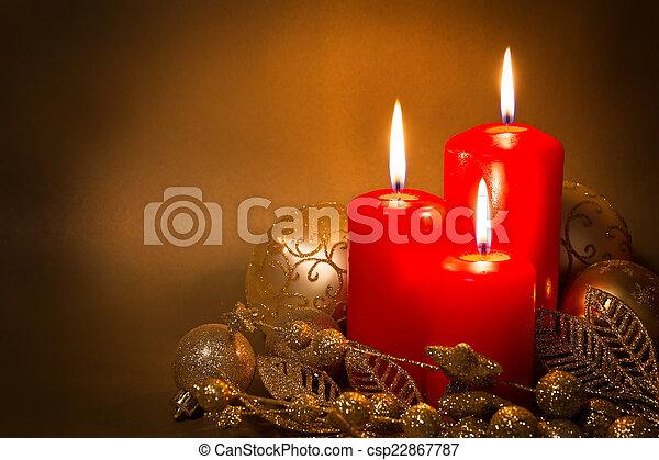 versiering, kerstmis - csp22867787