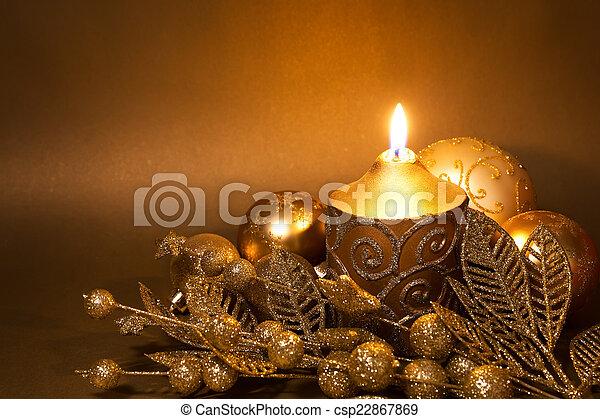 versiering, kerstmis - csp22867869
