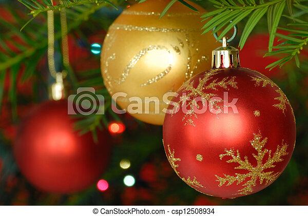 versiering, kerstmis - csp12508934