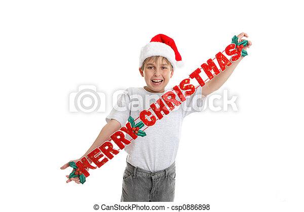 versiering, kerstmis, vrolijk - csp0886898