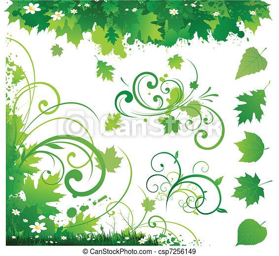 versiering, ornament, natuur - csp7256149