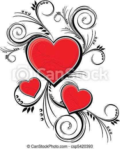 versiering, valentines - csp5420393