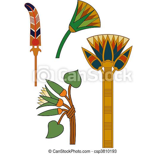 versieringen, egyptisch - csp3810193