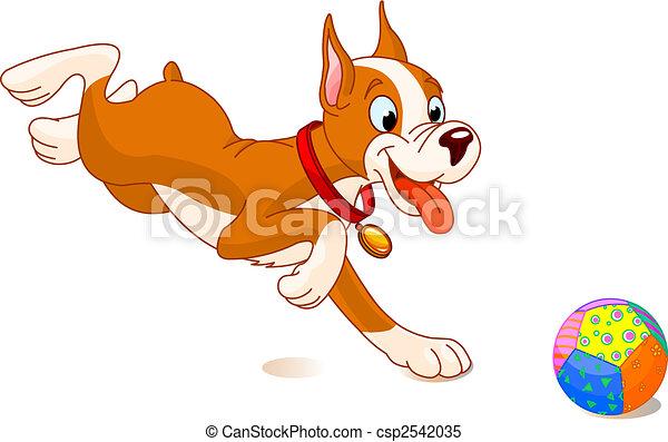 Ein verspielter Hund - csp2542035