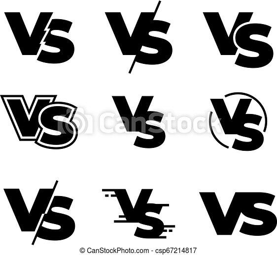 Versus Black Logos Challenge Vs Sign Sport Match Competition
