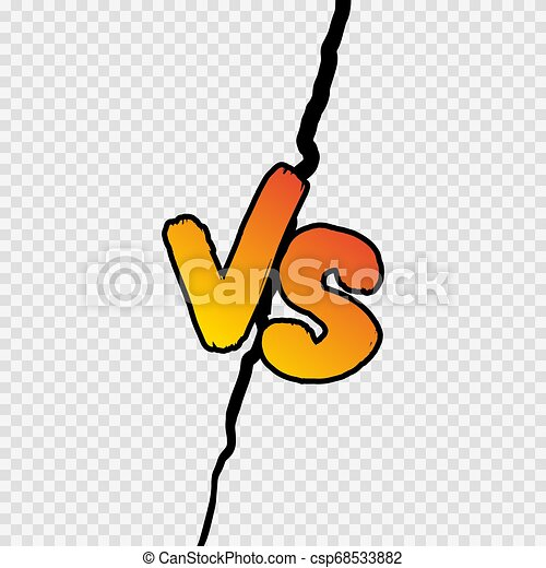 Versus Sign Gradient Style With Shadow Isolated On Transparent