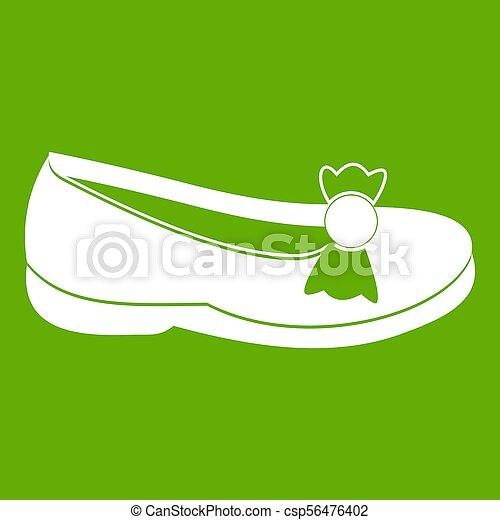vert, chaussure, icône - csp56476402