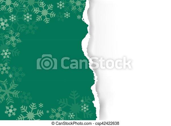 vert, déchiré, 9.0, noël, paperr(r) - csp42422638