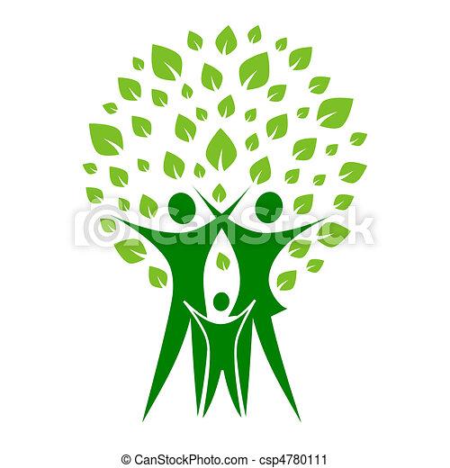vert, famille - csp4780111