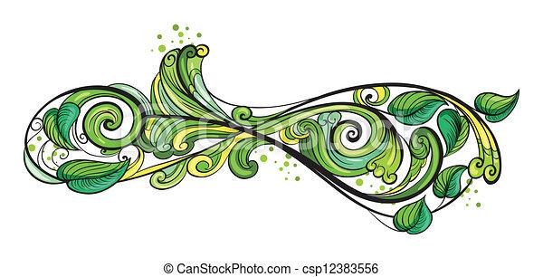 vert, frontière, créatif - csp12383556