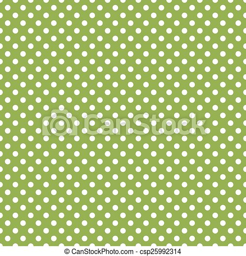 vert, polka, seamless, point, fond - csp25992314