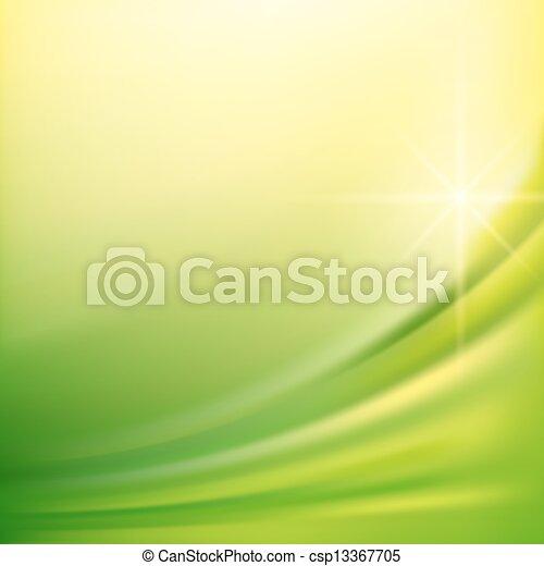 vert, soie, arrière-plans - csp13367705