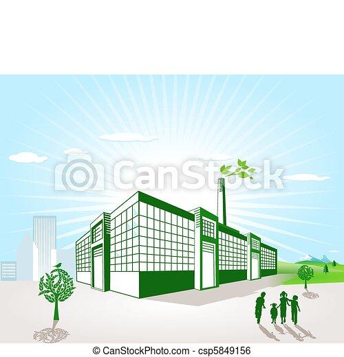 vert, usine - csp5849156