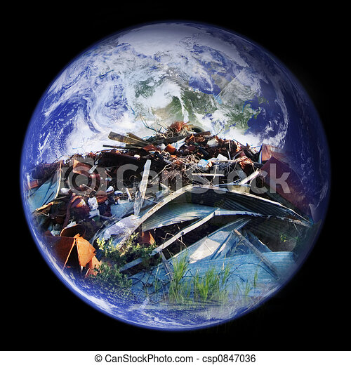 Tierra llena de tierra - csp0847036