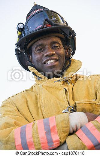 verticaal, brandweerman - csp1878118
