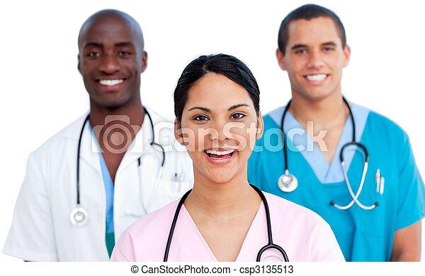 verticaal, medisch, jonge, team - csp3135513