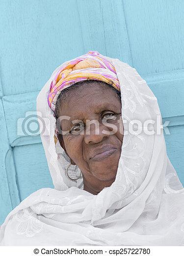 verticaal, vrouw, afrikaan - csp25722780