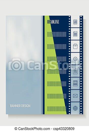 vertical banner template leaflets brochures eps vertical banner