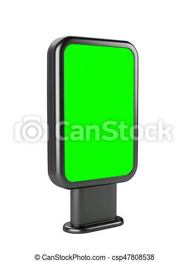 Vertical blank outdoor stand banner  Lightbox green screen