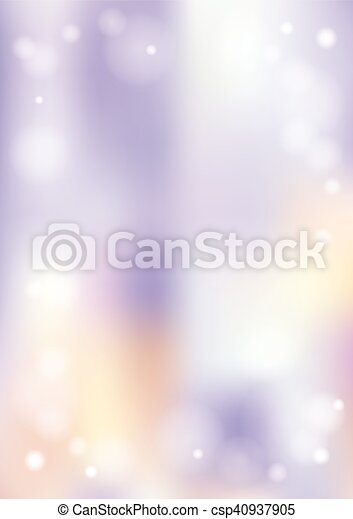 Vertical bokeh gradient winter background with snow border - csp40937905