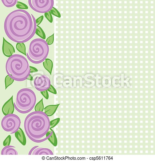 vertical border with roses - csp5611764