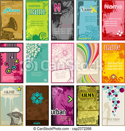 vertical, cartes, business - csp2372266