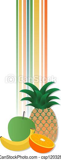 Vertical fruit banner - csp12032870