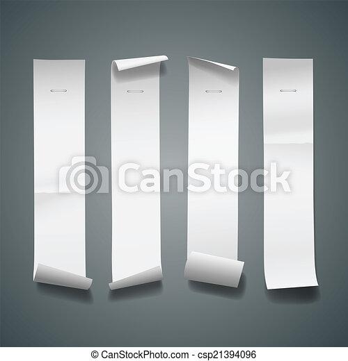 Papel blanco rueda de largo tamaño vertical - csp21394096