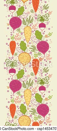 vertical, padrão, legumes, seamless, fundo, raiz, borda - csp14534707