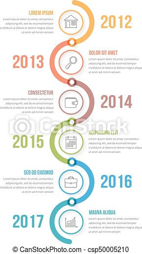 vertical timeline vertical timeline infographics template with
