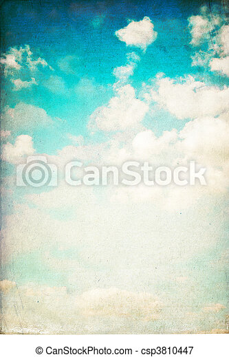 vertikal, årgång, sky, isolerat, white., bakgrund - csp3810447
