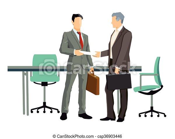 Vertrag, verhandlung.eps. Business concept in agreements ...