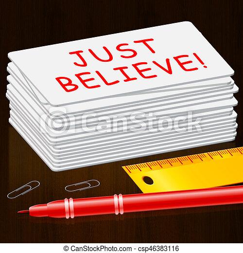 vertrauen, gerecht, selbst, 3d, abbildung, glauben, shows - csp46383116