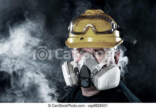 vervelend, respirator, man - csp9826501