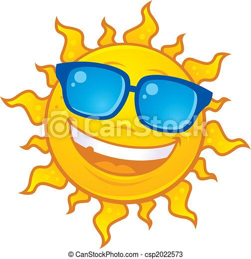 vervelend, zon, zonnebrillen - csp2022573