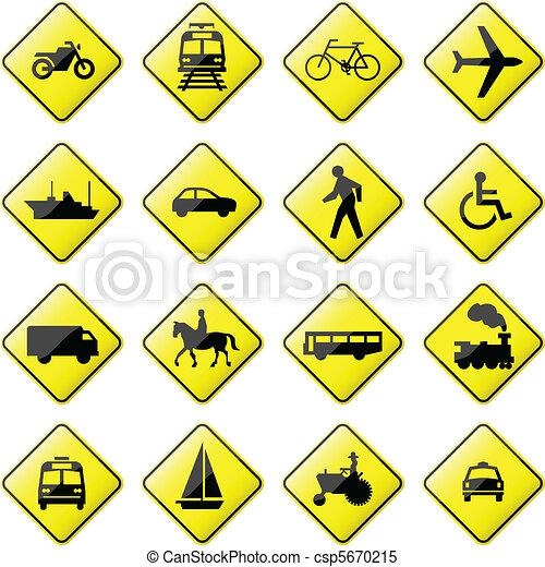 vervoer, meldingsbord, straat - csp5670215