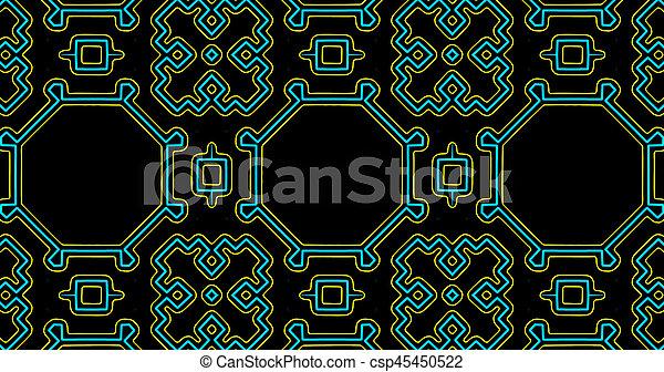 verwebt, abstrakt, aufwendig, luxus, afrikanisch, muster, geometrisch - csp45450522