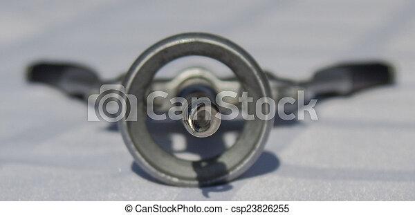 verwischen, spitze, corkscrew. - csp23826255
