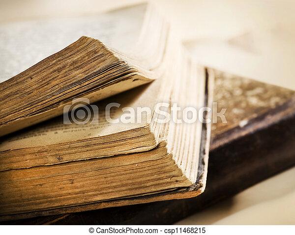 Very Old Book closeup - csp11468215