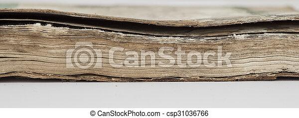 very old book closeup - csp31036766