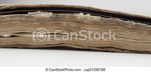 very old book closeup - csp31036768