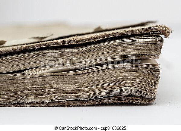 very old book closeup - csp31036825