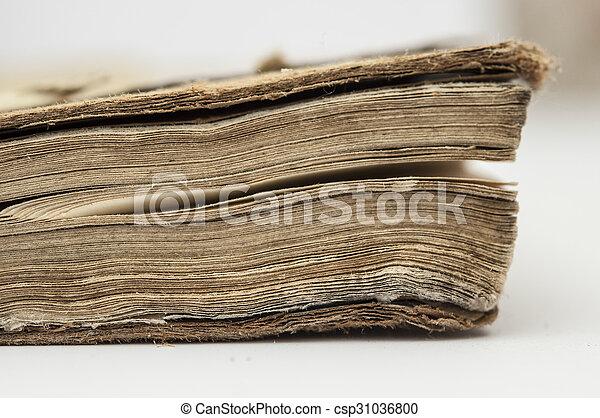 very old book closeup - csp31036800