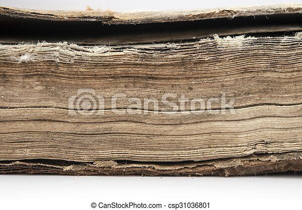 very old book closeup - csp31036801
